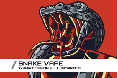 Snake Vape T-Shirt Illustration