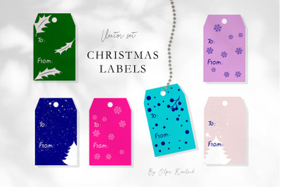Christmas Vector Gift Labels and Tags