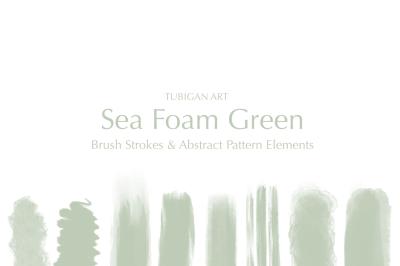 Sea Foam Green Brush Strokes