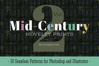 Mid-Century Retro Patterns: Volume Two