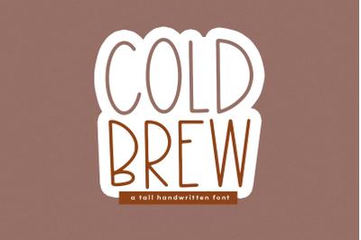 Cold Brew - Thin & Tall Handwritten Font