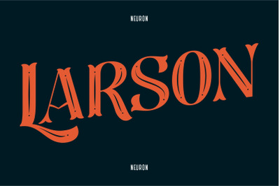 Larson Decorative Display Font