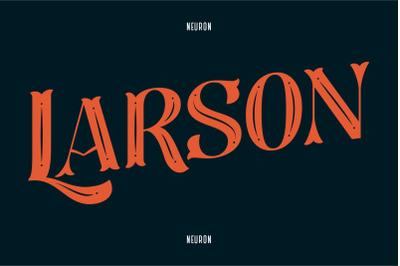 Larson Decorative Display Font
