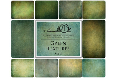 10 GREEN TEXTURES - Set 5