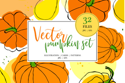 Vector Pumpkin Set