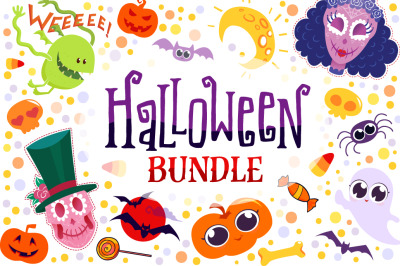Halloween Bundle - 90 elements & illustrations