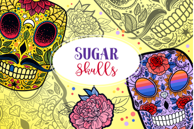 Sugar Skulls SVG Cut Files & Sublimation Collection