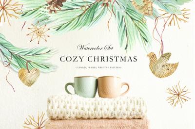 Cozy Christmas Watercolor Set