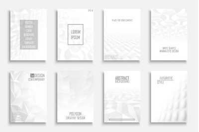 Abstract futuristic creative covers