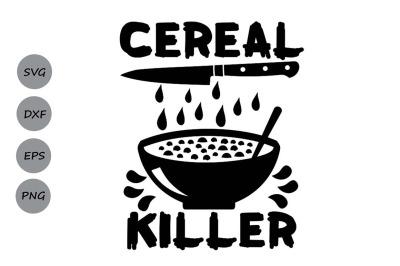 Cereal Killer Svg, Halloween Svg, Spooky Svg, Kids Halloween Svg.