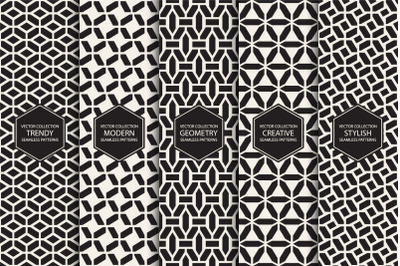 Set of seamless geometric patterns