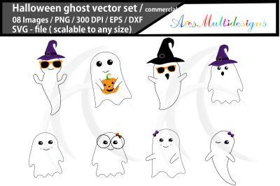halloween ghost svg / halloween vector graphics