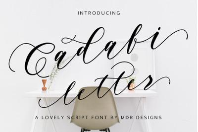 Cadafi letter script font