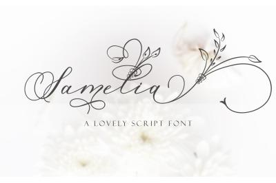 Samelia lovely script font