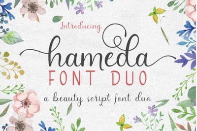 hameda script font duo