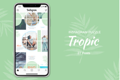 Instagram Puzzle Template - Tropic