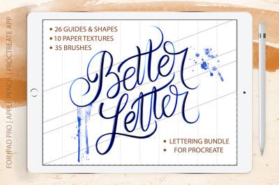 Better Letter. Procreate Brush Set.