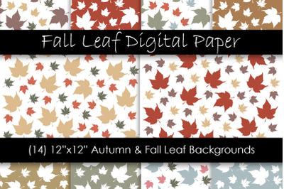 Autumn & Fall Leaf Backgrounds - Fall Leaf Patterns