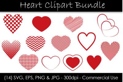 Heart SVG Bundle - Heart Shape Clip Art