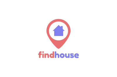 Findouse location, navigation logo vector