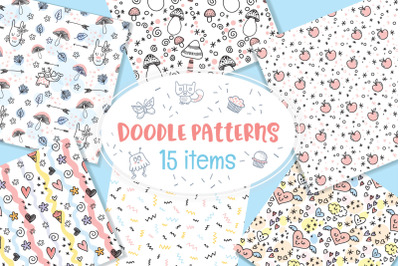 Various Doodle Patterns Vector Bundle