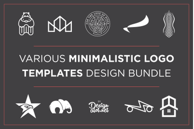 Minimalistic Logo Templates Bundle
