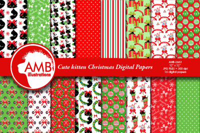 Christmas happy Cat Papers AMB-2663