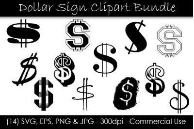 Dollar Sign SVG Bundle - Dollar Sign Clip Art