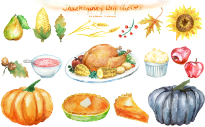 Thanksgiving Day Cliparts