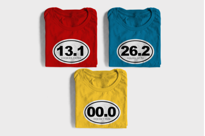 Funny Marathon Numbers | SVG | PNG | DXF