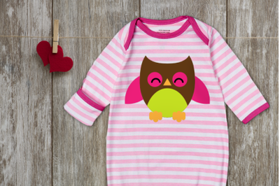 Chubby Owl | SVG | PNG | DXF