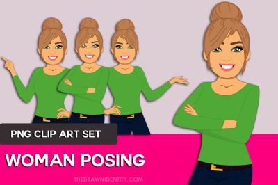 Woman Clip Art Graphic Illustration