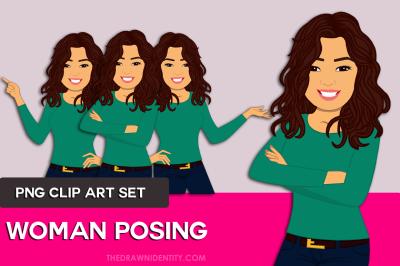 Asian Woman Clip Art Graphic Illustration