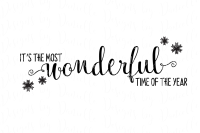It's The Most Wonderful Time of the Year SVG Christmas Cutting File