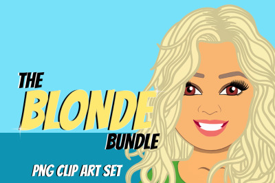 Blonde Woman Clip Art Bundle | Character | Avatar | Graphic