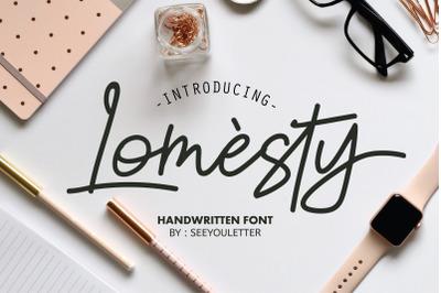 Lomesty Font