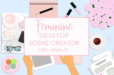 Feminine Flat Lay Desktop Scene Creator