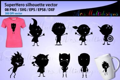 Superhero silhouette vector / Superhero graphics