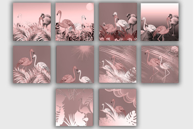 Tropical Patterns Flamingo
