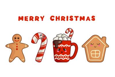 Merry Christmas - kawaii characters