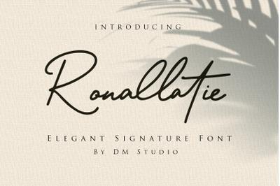 Ronalltie - Elegant Signature Font