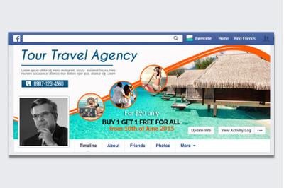 Tour Travel Agency Facebook Timeline Cover