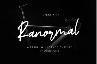 Ranormal Typeface Signature