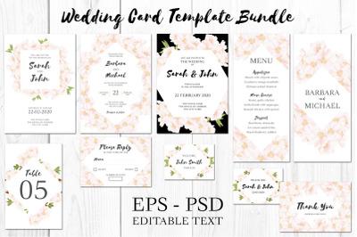 Cherry Blossom Flower Wedding Invitation Kit