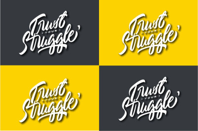 Typography Trust Your Struggle - For POD