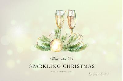 Sparkling Christmas Watercolor Set
