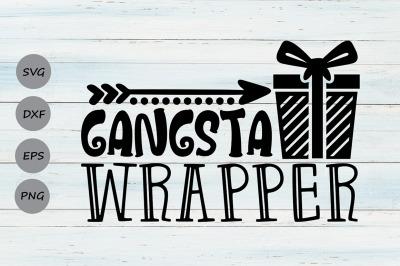 Gangsta Wrapper Svg, Christmas Svg, Funny Christmas Svg, Holidays Svg.
