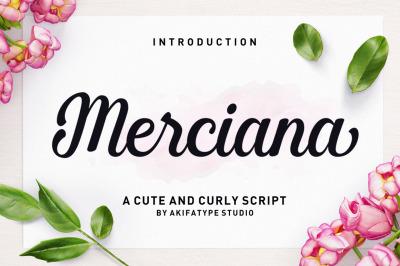 Merciana Script