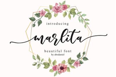 marlita -beautiful script-