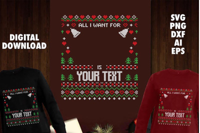Download Christmas Deer Heads, Ugly Sweater Style – Svg, Dxf, Eps – Cutting Files Crafter Files